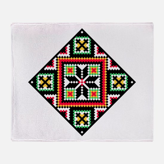 Folk Design 1 Throw Blanket
