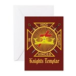Knights Templar Greeting Cards (Pk of 10)