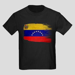 Venezuela Flag Kids Dark T-Shirt