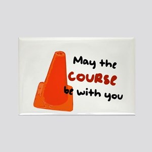 "Rally Cone ""Course Be With Yo Rectangle Magnet"
