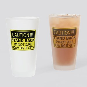 Caution Stand Back Drinking Glass