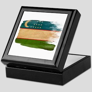 Uzbekistan Flag Keepsake Box