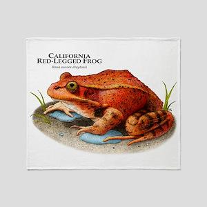 California Red-Legged Frog Throw Blanket