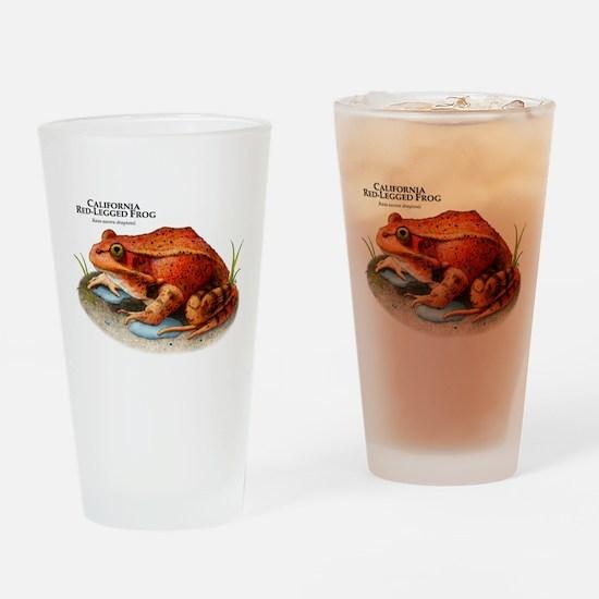 California Red-Legged Frog Drinking Glass