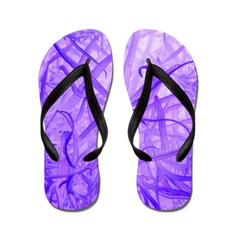 Purple Life Form Flip Flops