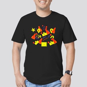 Lots of Signs Men's Fitted T-Shirt (dark)