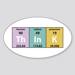 Chemical Think Oval Sticker