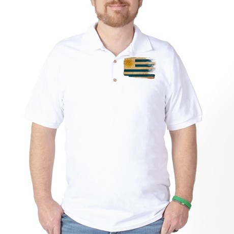 Uruguay Flag Golf Shirt
