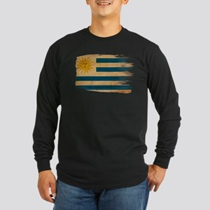 Uruguay Flag Long Sleeve Dark T-Shirt