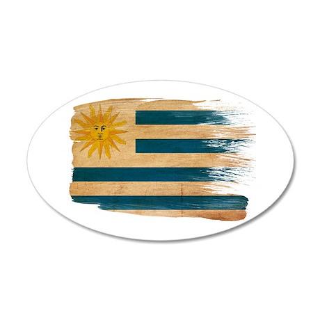 Uruguay Flag 22x14 Oval Wall Peel