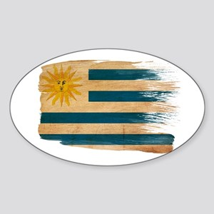 Uruguay Flag Sticker (Oval)
