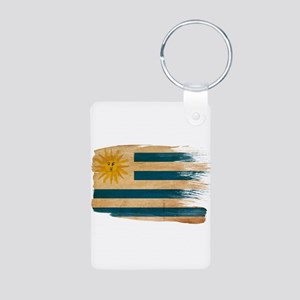 Uruguay Flag Aluminum Photo Keychain