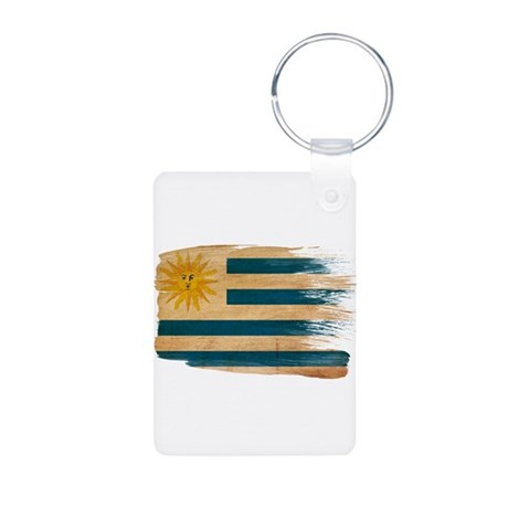 Uruguay Flag Aluminum Photo Keychain