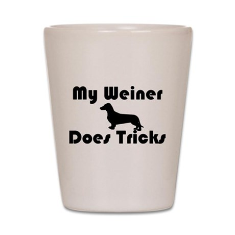 Weiner tricks Shot Glass