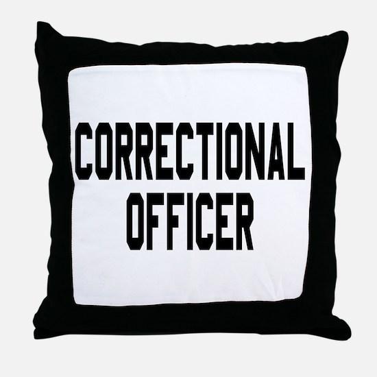 Correctional Officer Throw Pillow