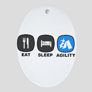 Eat. Sleep. Agility Ornament (Oval)
