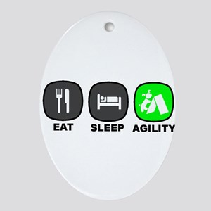 Eat. Sleep. Agility Ornament (Oval)