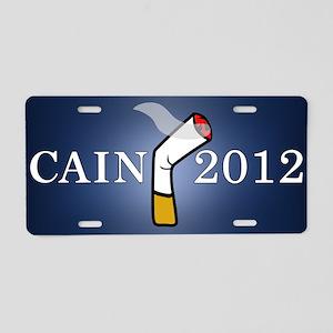 Cain President 2012 Aluminum License Plate