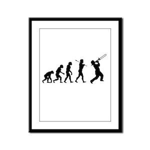 Evolve - Trombone Framed Panel Print
