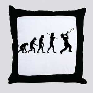 Evolve - Trombone Throw Pillow