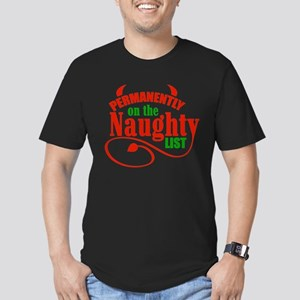 Naughty List Men's Fitted T-Shirt (dark)