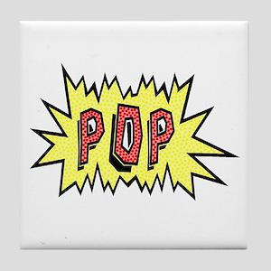 'POP' Tile Coaster