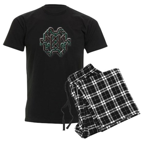 Celtic Yule Knot 1 Men's Dark Pajamas