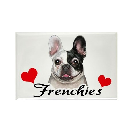 Love Frenchies - Pied Rectangle Magnet