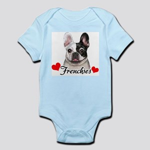 Love Frenchies - Pied Infant Bodysuit