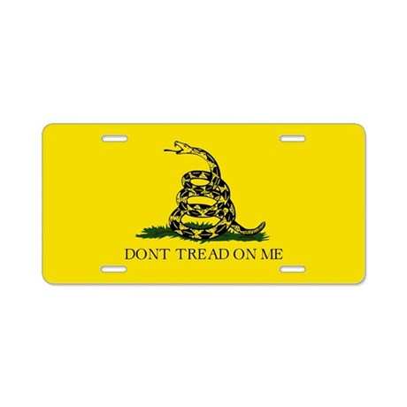 Don't Tread On Me / Gadsden Flag Aluminum License