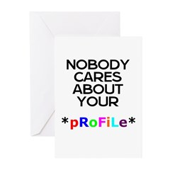 Stupid Profile Greeting Cards (Pk of 10)