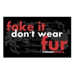 No Fur Stickers & Pins - Sticker (Rectangle 50 pk)