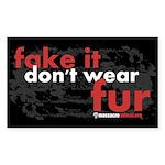 No Fur Stickers & Pins - Sticker (Rectangle 50 pk)