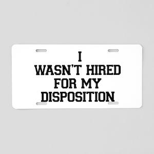 Disposition Aluminum License Plate