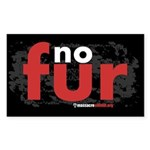 No Fur Stickers & Pins - Sticker (Rectangle)