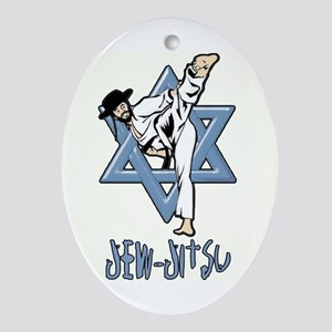 Jew Jitsu Ornament (Oval)