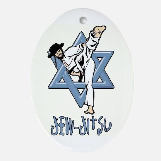 Jew Jitsu Ornament (Oval)