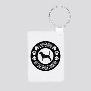 Beagle Aluminum Photo Keychain