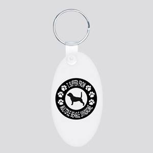Beagle Aluminum Oval Keychain