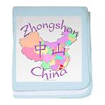 Zhongshan China Map baby blanket