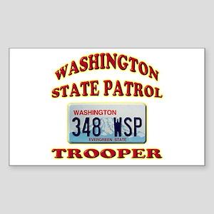 Washington State Patrol Sticker (Rectangle)