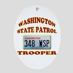 Washington State Patrol Ornament (Oval)