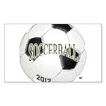FootBall Soccer Sticker (Rectangle 10 pk)