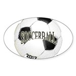 FootBall Soccer Sticker (Oval 50 pk)