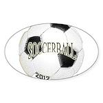 FootBall Soccer Sticker (Oval 10 pk)