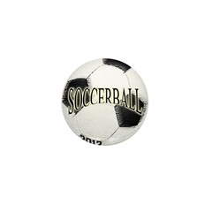 FootBall Soccer Mini Button (100 pack)