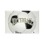 FootBall Soccer Rectangle Magnet (100 pack)