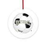 FootBall Soccer Ornament (Round)