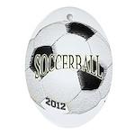 FootBall Soccer Ornament (Oval)