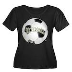 FootBall Soccer Women's Plus Size Scoop Neck Dark